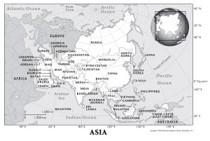 Physical Map of Asia PDF