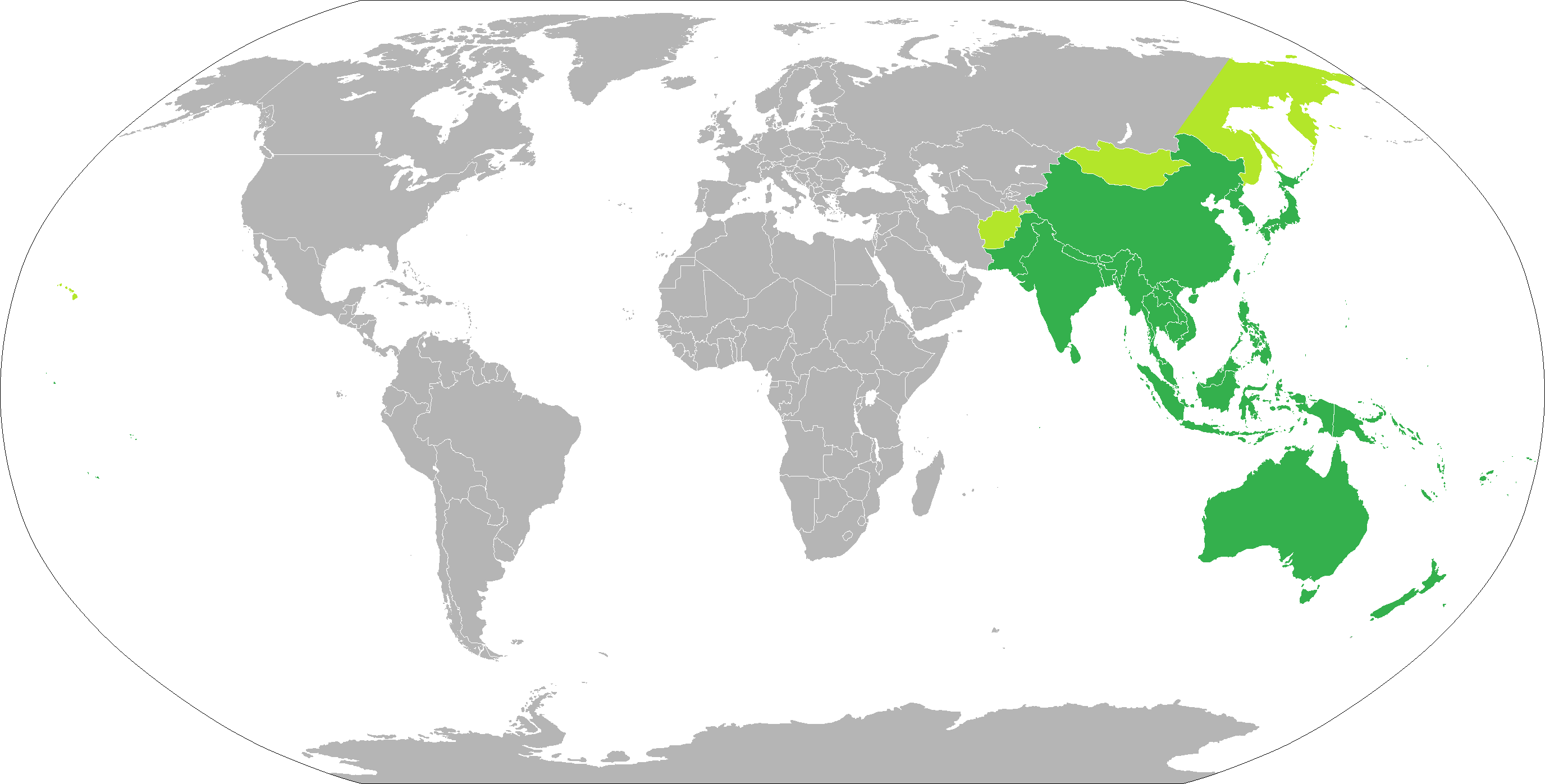 Map of Asia Pacific Countries