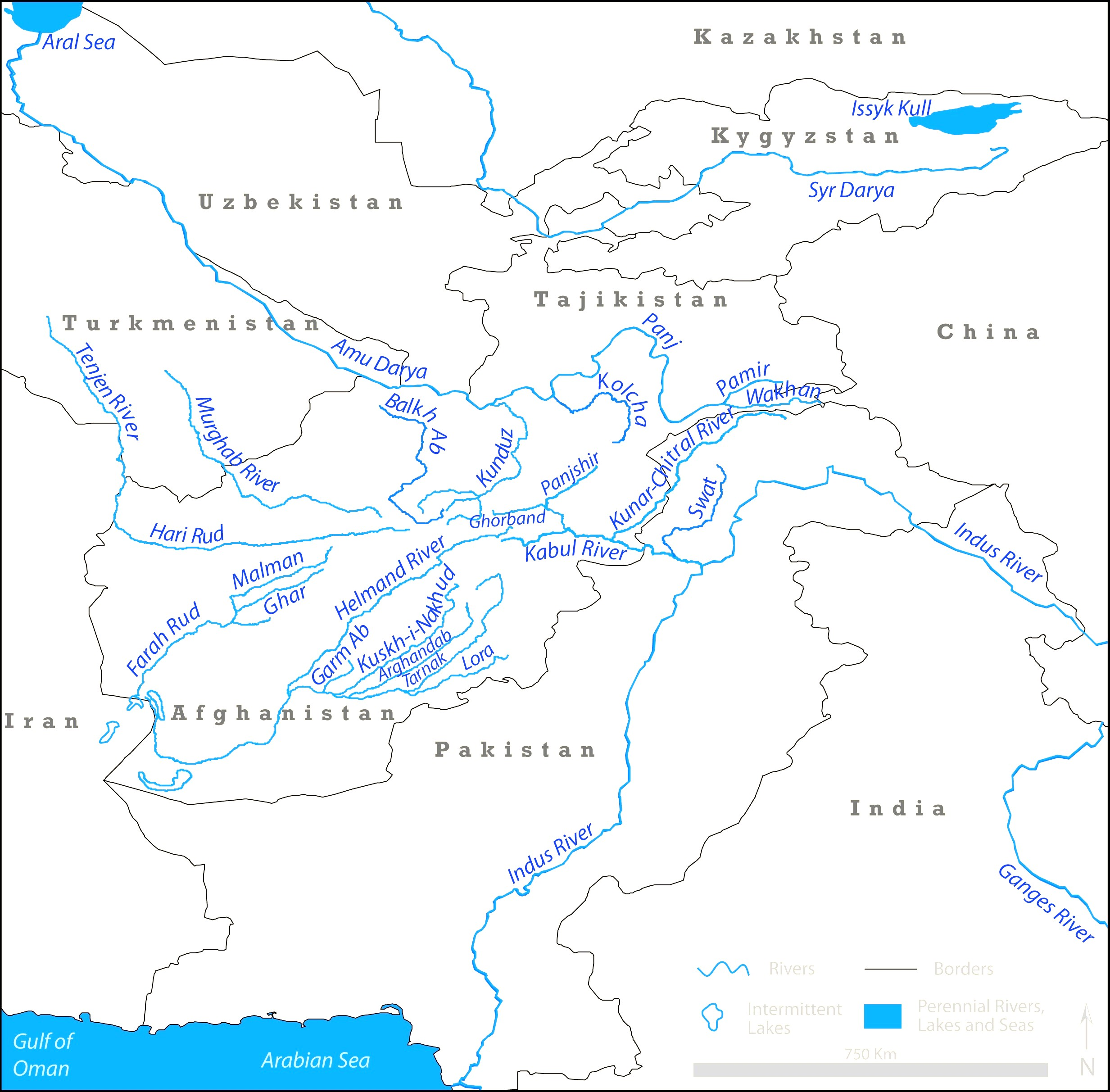 World Map Labeled Rivers