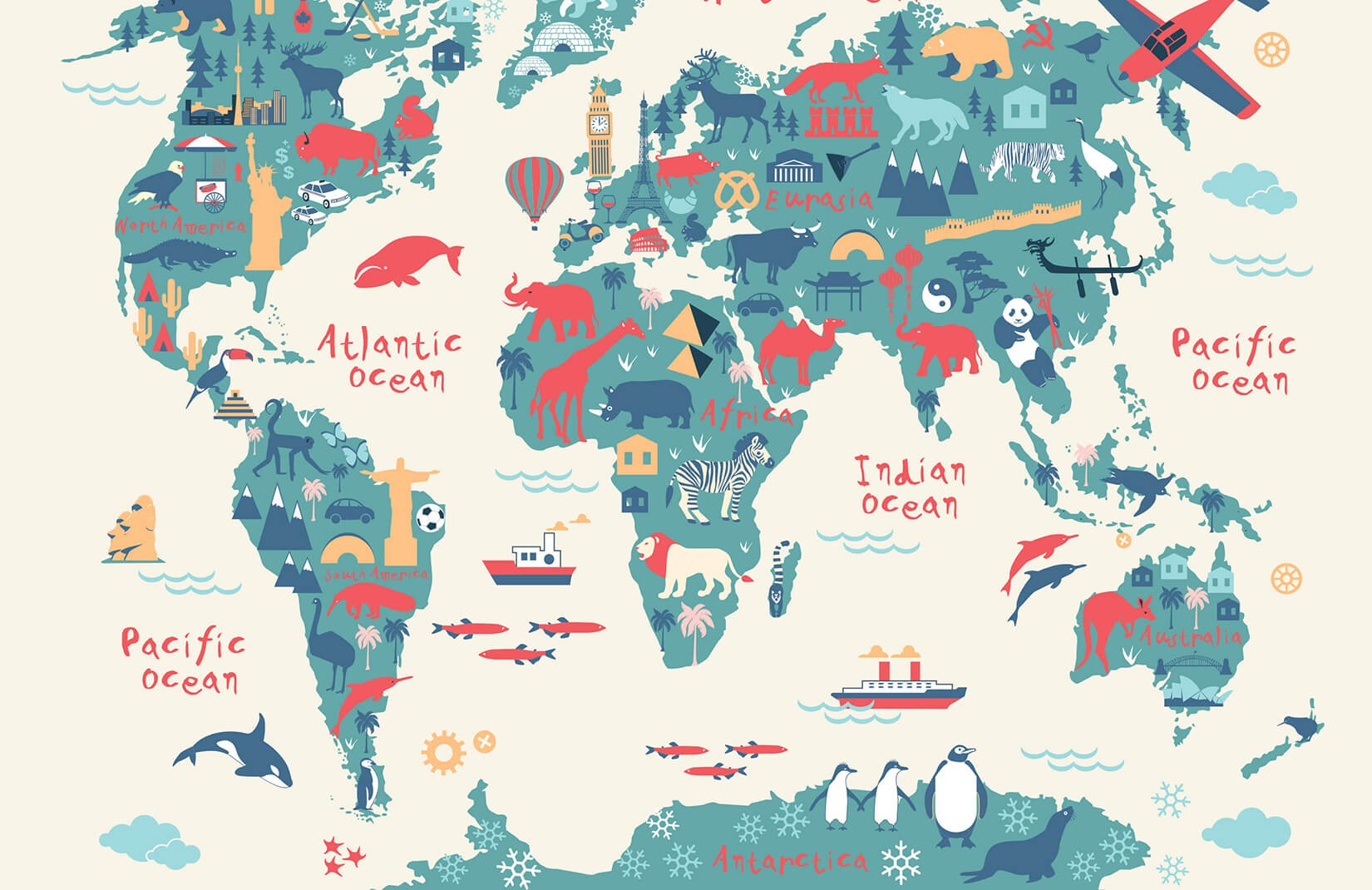 World Map for Kids Printable,Interactive World Map for Kids