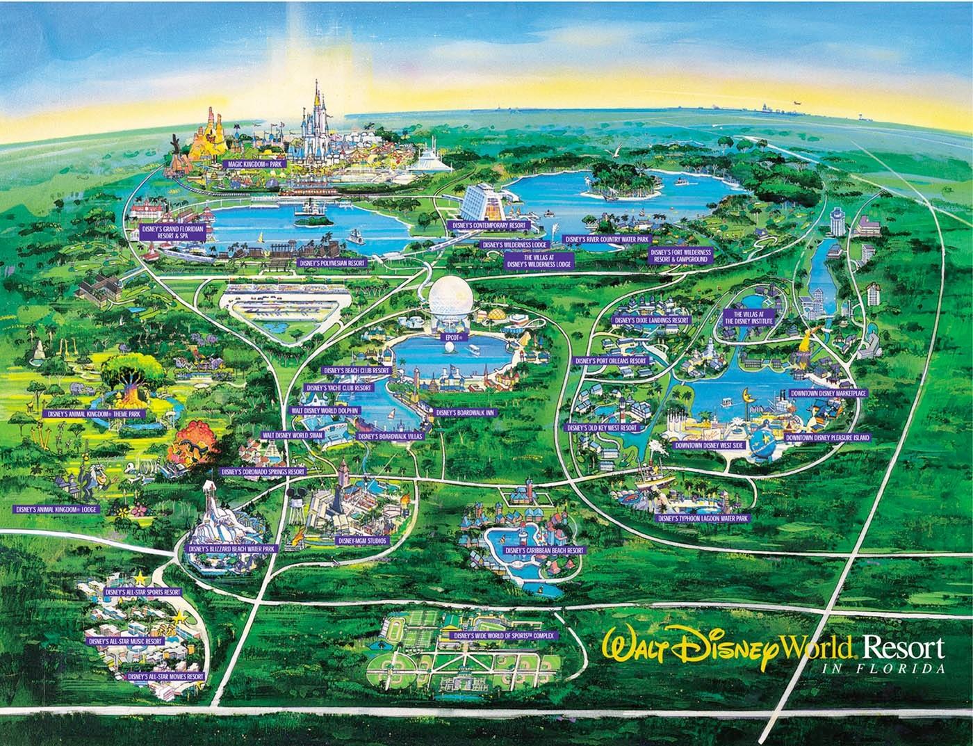 Disney World Interactive Maps