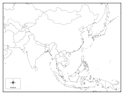 Blank Map Of Asia Outline.Free Detailed Printable Blank Map Of Asia Template In Pdf World