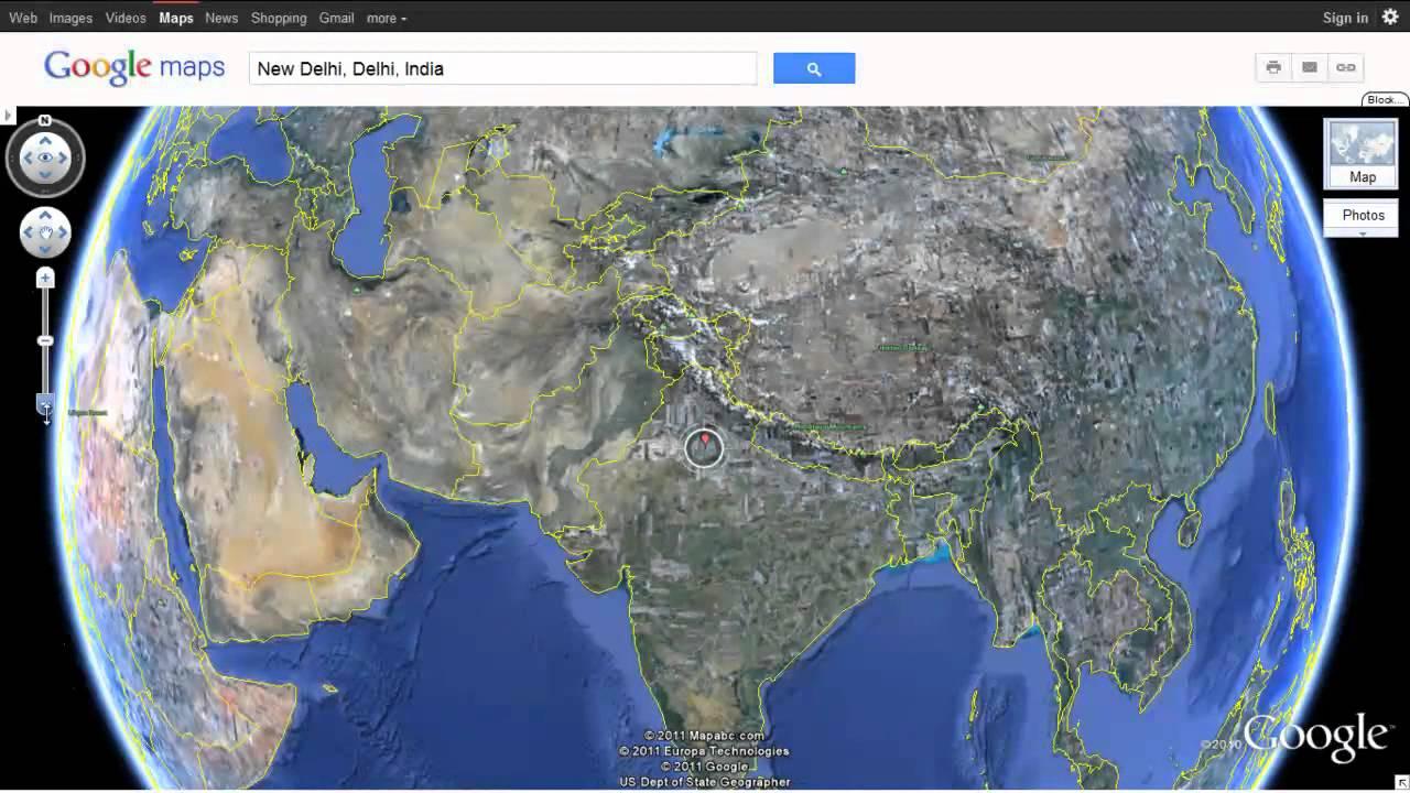 Google world map satellite