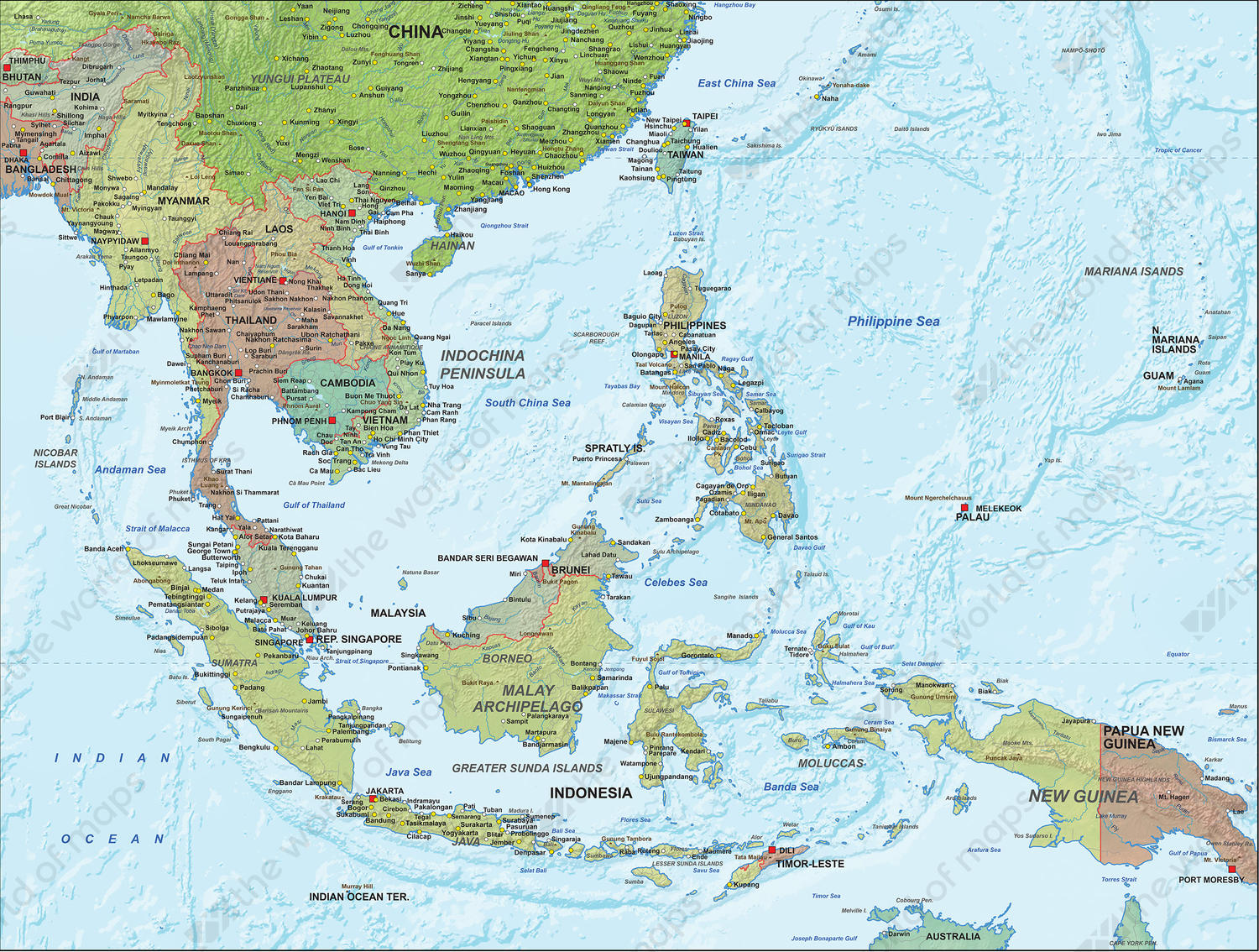 Southeast Asia Map Countries