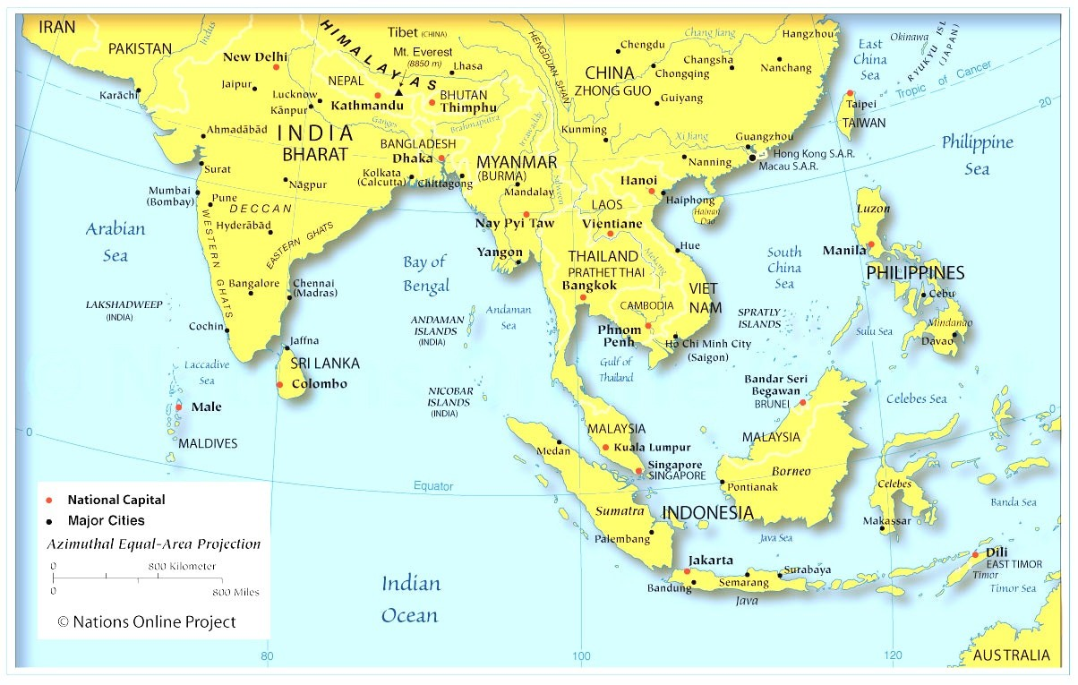 Download Free Printable Southeast Asia Map