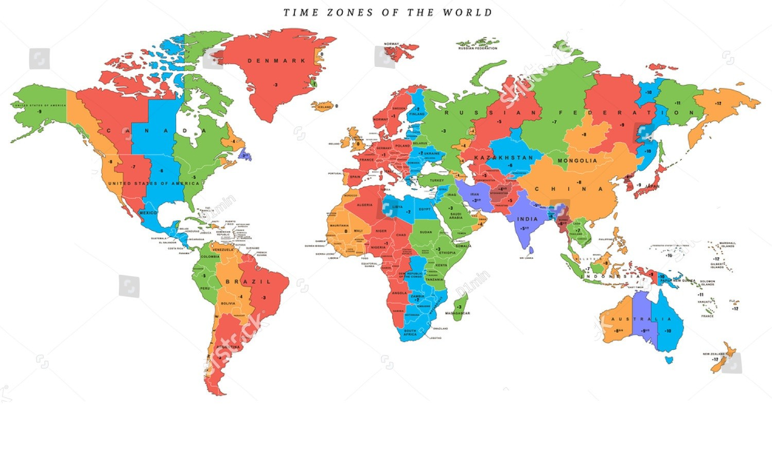 Printable World Time Zone Map,World Time Zone Map PDF