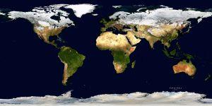 WORLD MAP SATELLITE