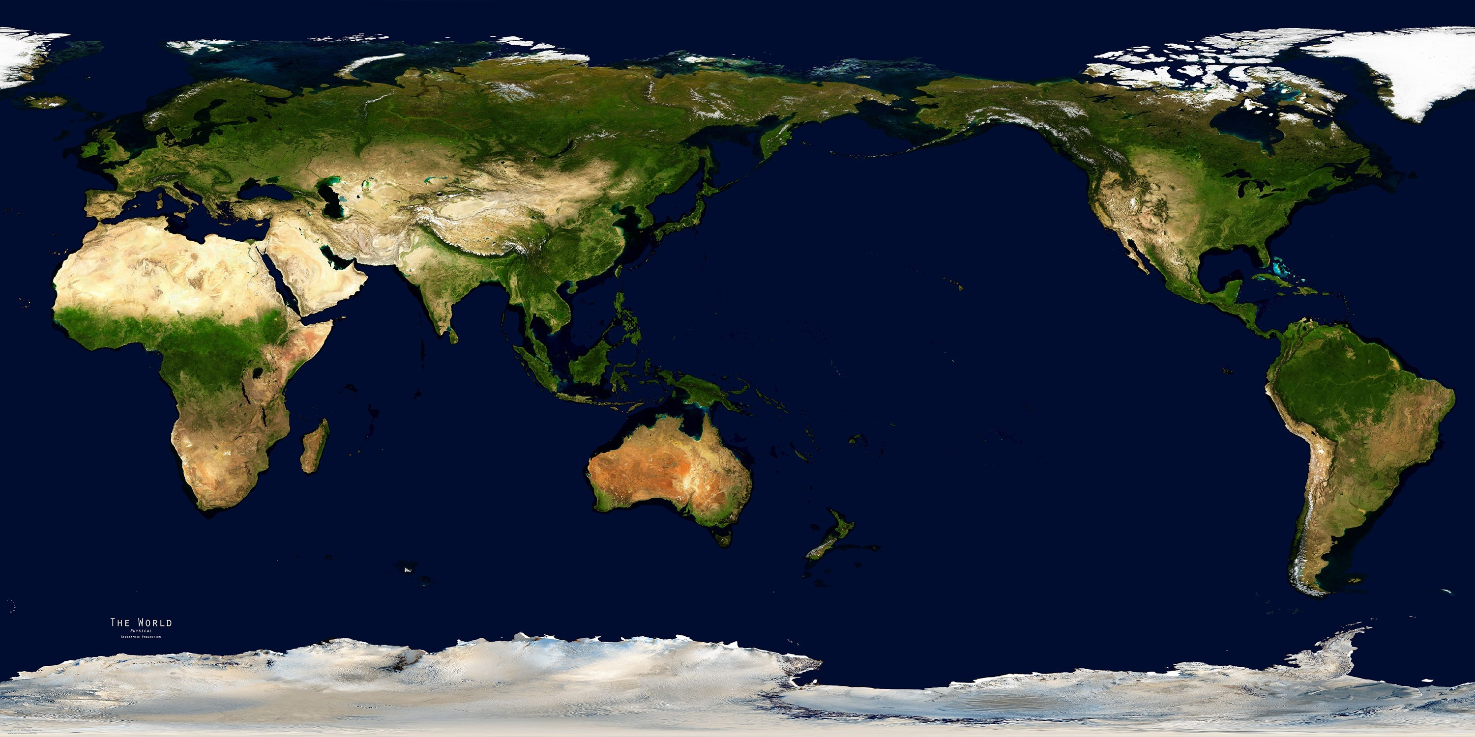 3d Views Of World Map Satellite With Countries World Map With