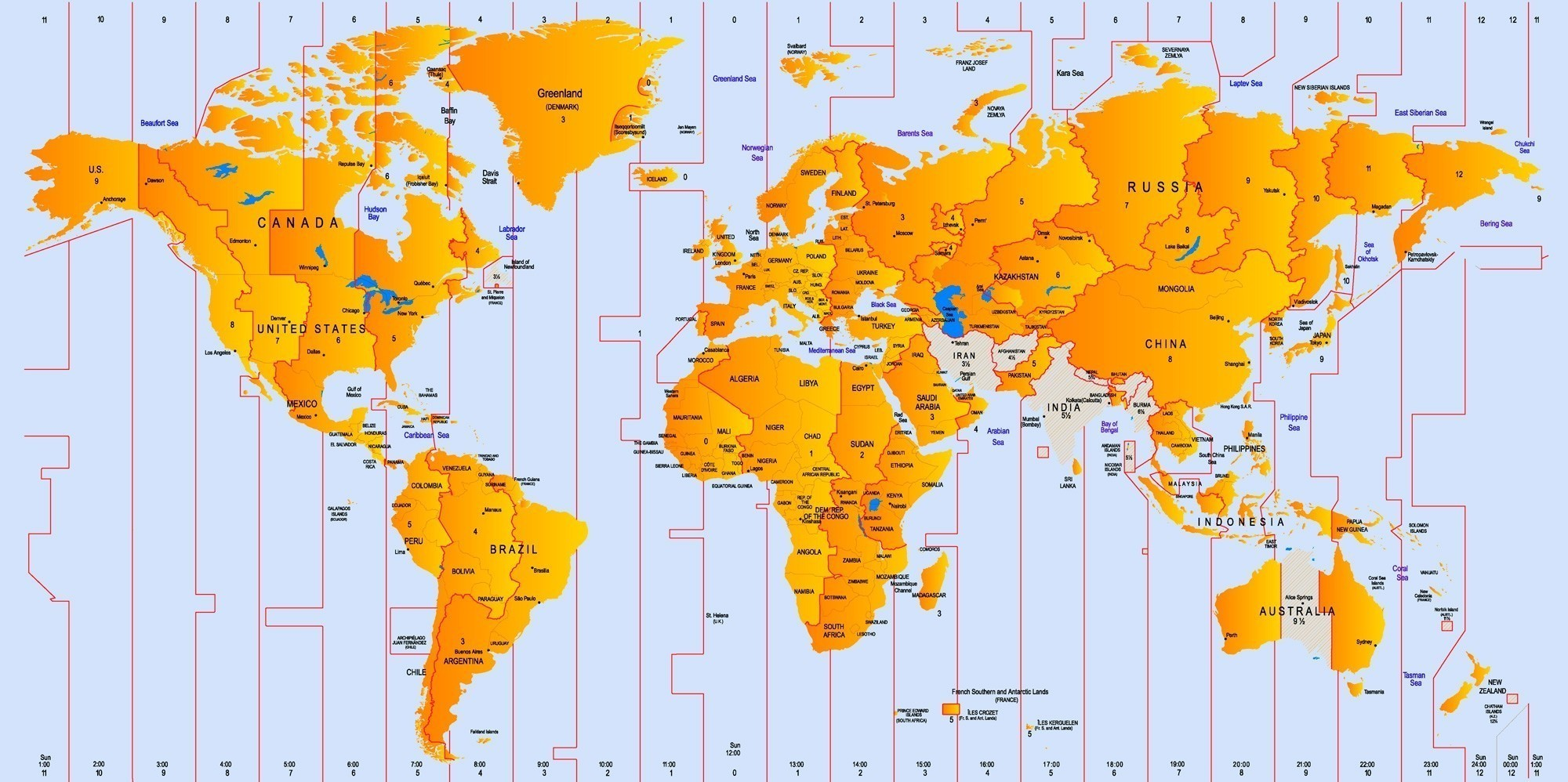 This is a picture of Mesmerizing Printable World Time Zone Map