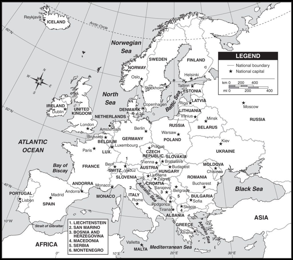 It's just a picture of Invaluable Printable Map of Europe