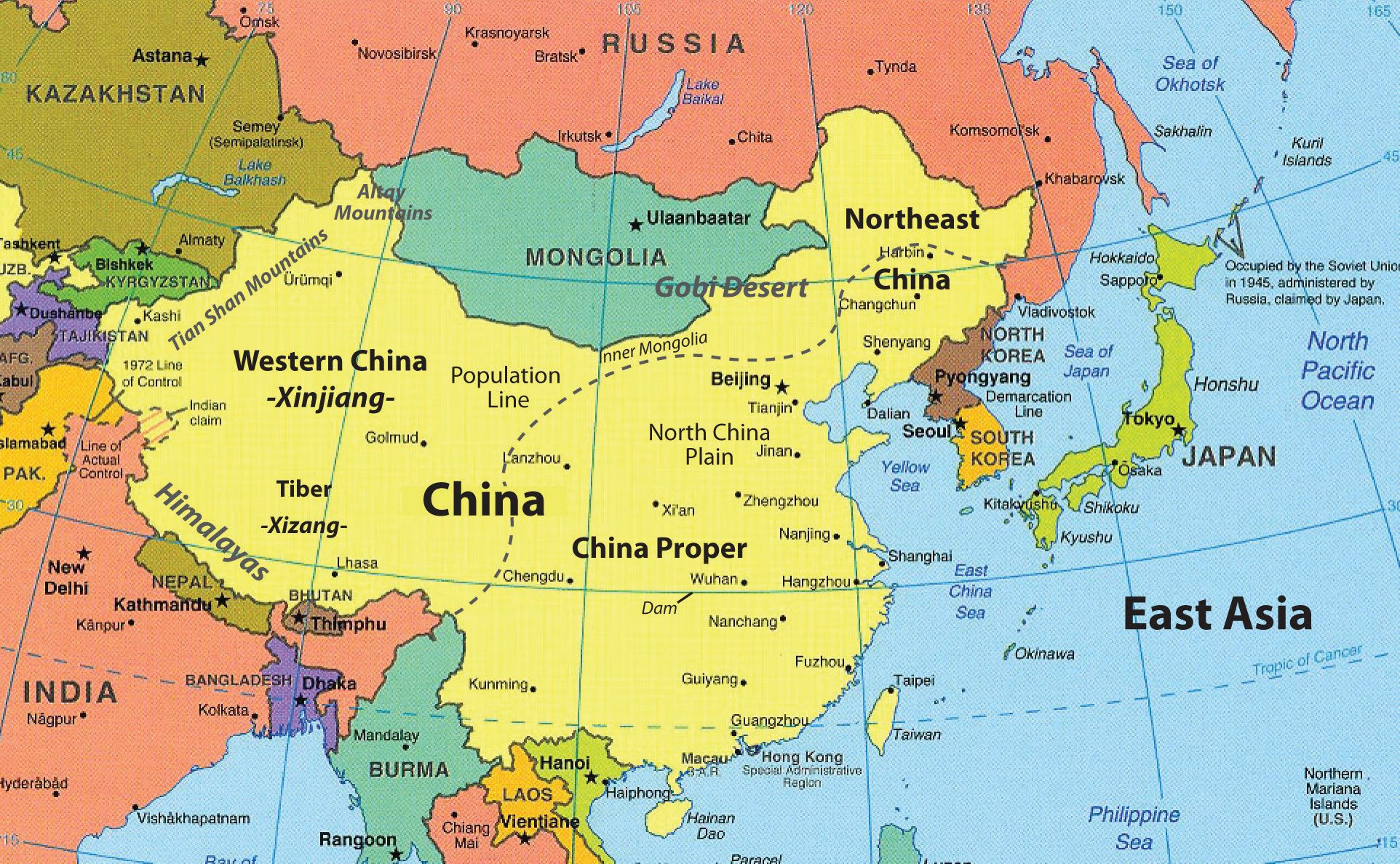 East Asia Map Countries