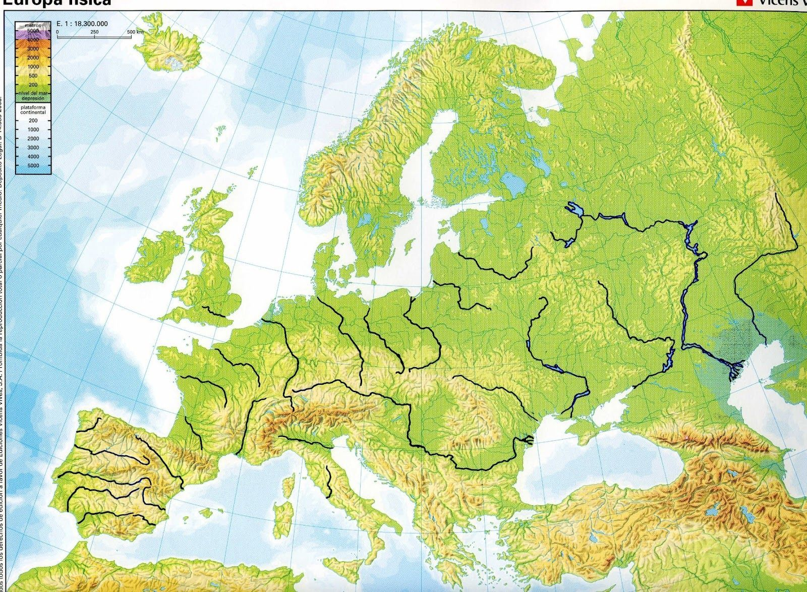 Free Large Geographical Map Of Europe World Map With Countries