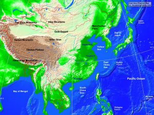 East Asia Map Physical