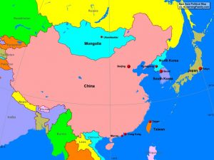 Blank East Asia Map Political