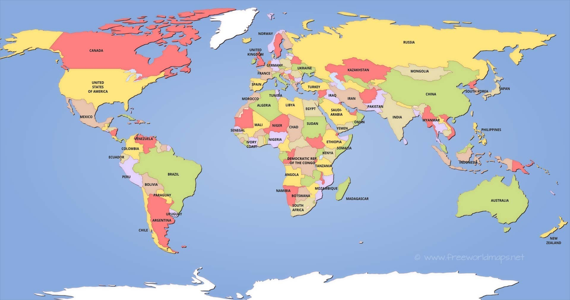 It's just a photo of Priceless Printable World Map With Countries Labeled Pdf