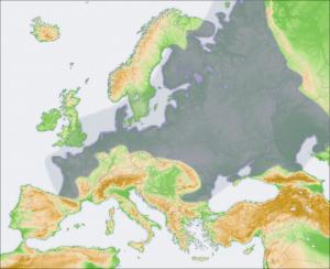 Map of Northern European Plain
