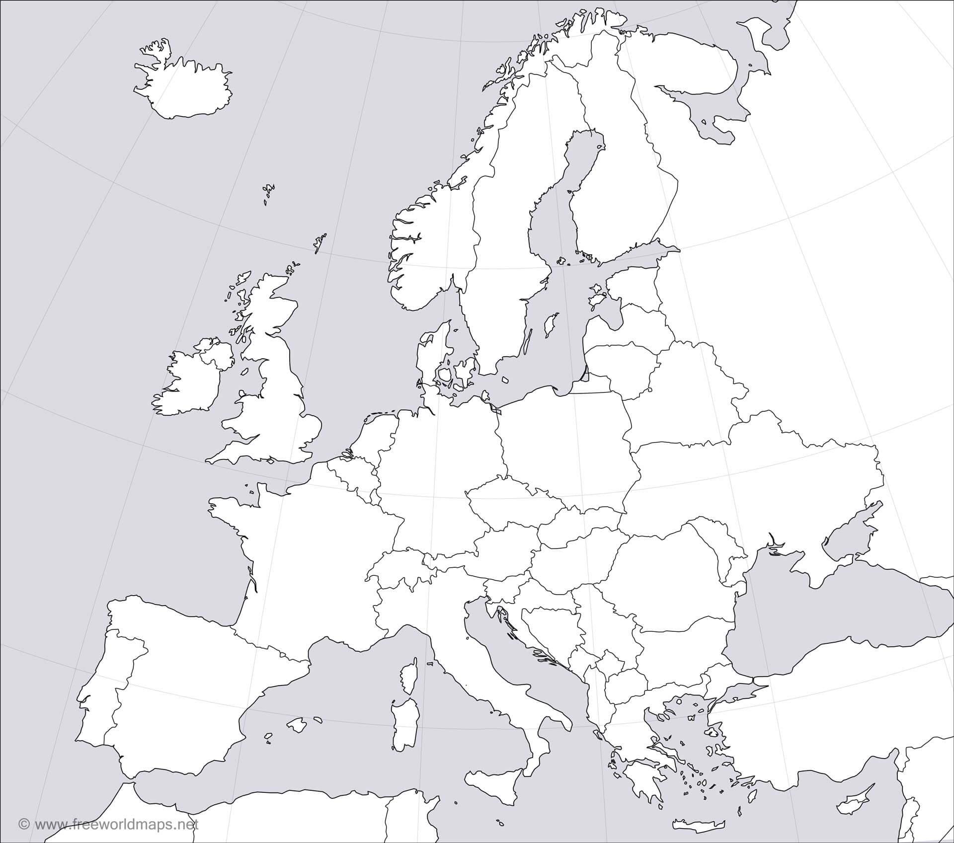 Blank Map of Europe PDF