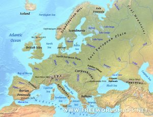 Europe Physical Map Labeled Quiz