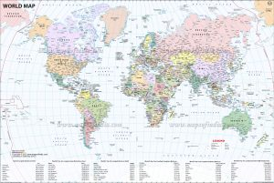 Detailed World Map PDF Download
