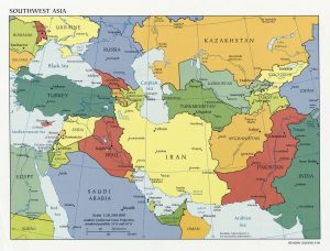 Southwest Asia Map Countries