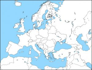 Europe Political Map HD
