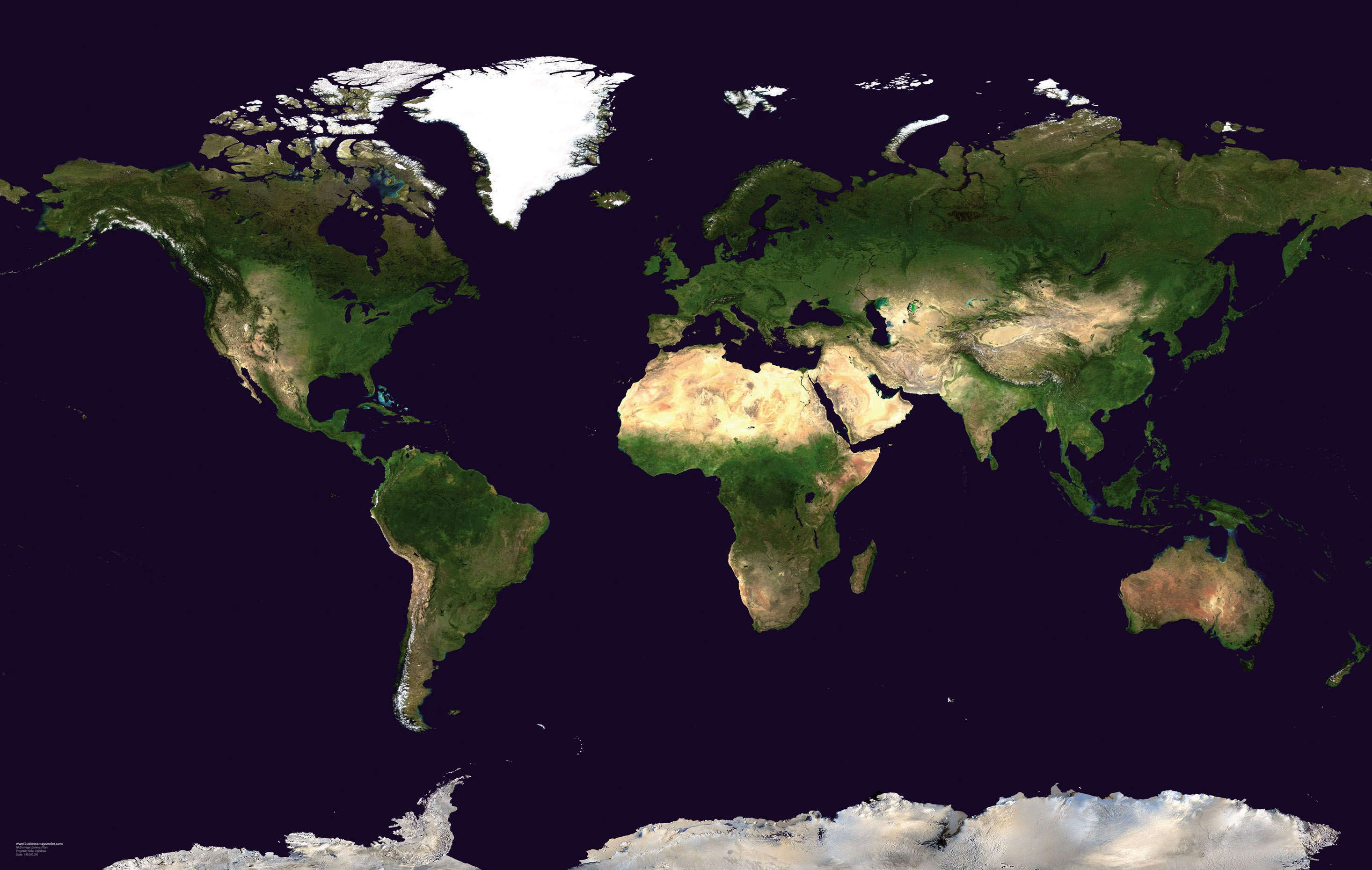 Get Free Full Detailed World Map Satelite | World Map With Countries