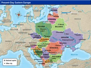 Western and Eastern Political Map