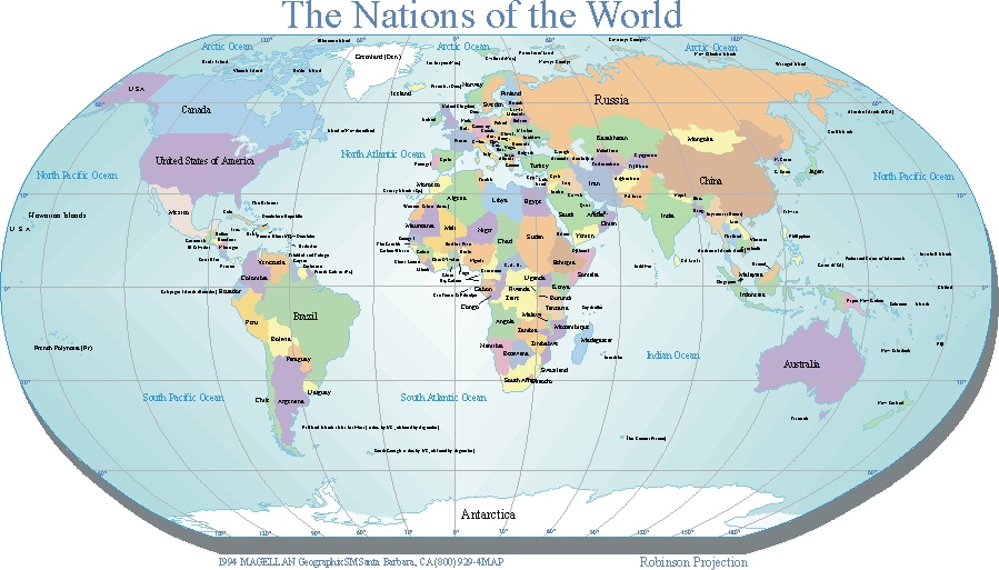 Large Printable World Map Large Printable World Map with Countries in PDF | World Map With
