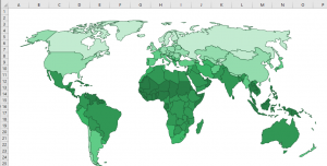 Excel World Map Template