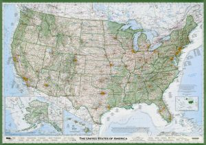 Detailed Geographical Map of USA