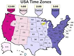 Map of USA Time Zones and States