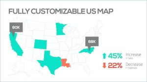 Editable US Map PowerPoint