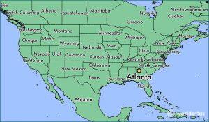 Atlanta Georgia USA Map