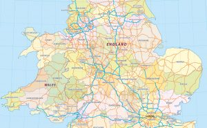 Show Road Map of UK