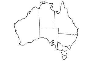 Blank Map of Australia Worksheet