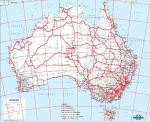 Road Map of Australia PDF