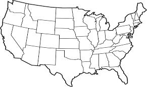 USA Map Outline Printable
