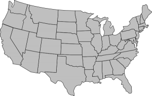 USA Map Outline with States