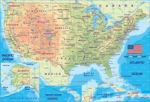 Printable Map of USAwith Major Cities