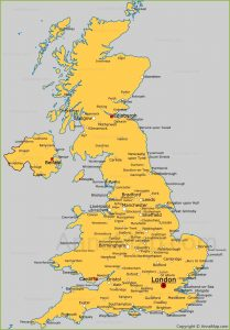 Map of UK Cities and Towns