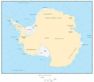 Printable Map of Antarctica with countries