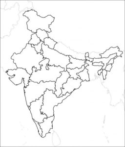 Blank India Map