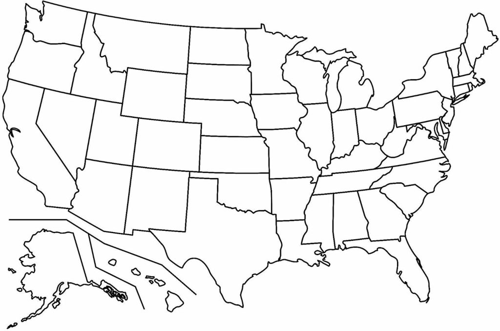 Blank Map of USA PDF