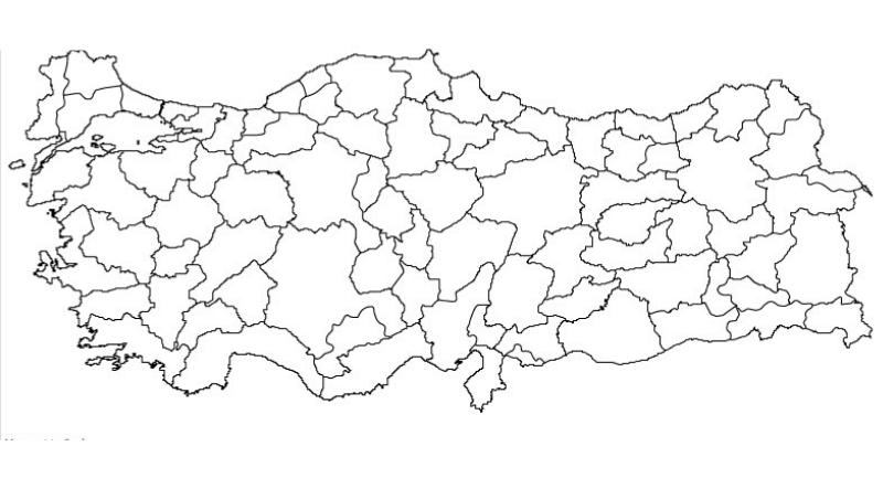 Outline Map of Turkey PDF
