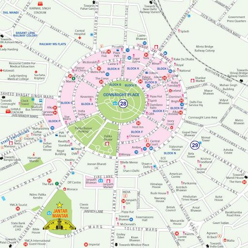 Map of Delhi & Cities PDF