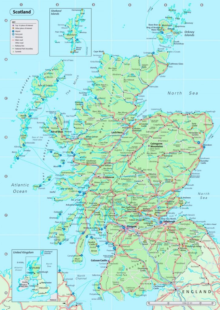 Details Map of Scotland Countries