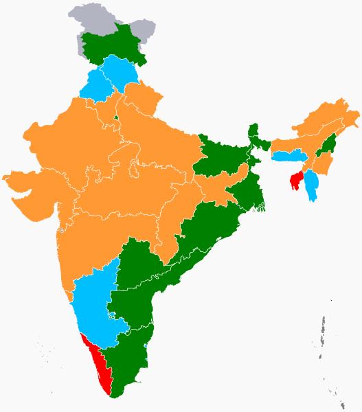Printable India Map