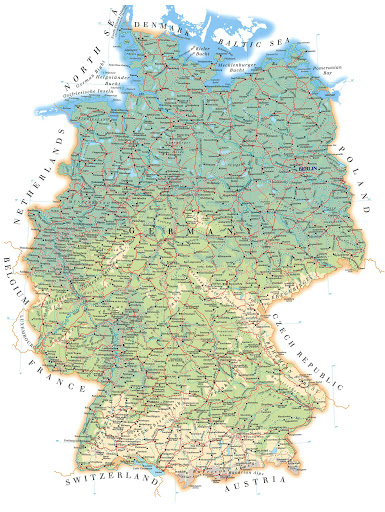 Road Map of Germany