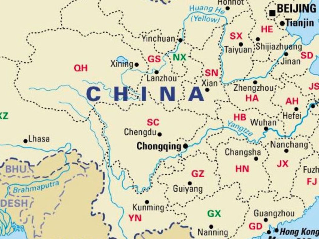 Labeled Map of China PDF
