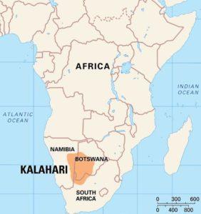 Map of Kalahari Desert